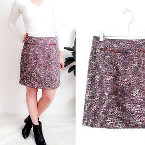 Ann Taylor Loft Woven Career Mini Pencil Skirt